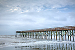 Ocean pier on the Carolina Coast, Isle of Palms, SC