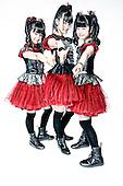 Babymetal - L-R: Moametal (Moa Kikuchi), Su-metal (Suzuka Nakamoto), Yuimetal (Yui Mizuno) - photosession in London UK - 07 Nov 2014.  Photo credit: Paul Harries/IconicPix **NOT AVAILABLE FOR PUBLICATION IN U.K. MUSIC MAGAZINES - PLEASE CALL TO VERIFY**