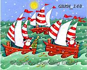 Kate, CHRISTMAS SYMBOLS, WEIHNACHTEN SYMBOLE, NAVIDAD SÍMBOLOS, paintings+++++Christmas page 35 1,GBKM148,#xx#,sailing ships,boats,santa