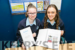 Gillian Hannifin and Molly O'Callaghan, from Presentation Castleisland with their project Investigation to find if plants can decrease the levels of nitrates in water caused by pollution at SciFest 2016 on Thursday at ITT North Campus, 8th Science and Technology competition for 2nd level schools