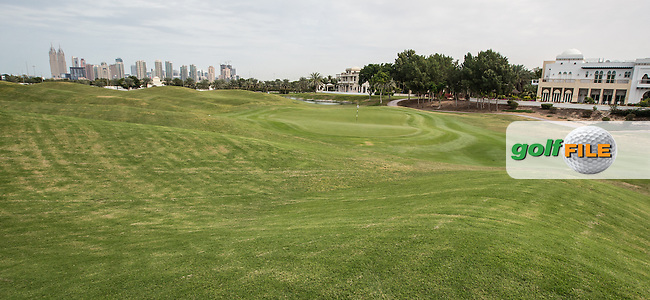 2nd green at The Address Montgomerie Golf Club, Dubai, United Arab Emirates.  27/01/2016. Picture: Golffile | David Lloyd<br /> <br /> All photos usage must carry mandatory copyright credit (&copy; Golffile | David Lloyd)