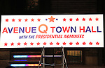 "The cast of ""Avenue Q"" Hosts Town Hall With A Debate Between Puppets Hillary Clinton, ""I'm with Fur"" played by Maggie Lakis & Donald Trump, ""Make Puppets Great Again"" played by Rob McClure at the New World Stages on September 26, 2016 in New York City."