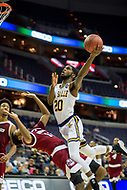 Washington, DC - MAR 7, 2018: La Salle Explorers guard B.J. Johnson (20) goes up strong to the basket during game between La Salle and UMass in first round action of the Atlantic 10 Basketball Tournament at the Capital One Arena in Washington, DC. (Photo by Phil Peters/Media Images International)