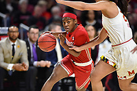 College Park, MD - March 23, 2019: Radford Highlanders guard Khiana Johnson (4) drives to the basket during first round action of game between Radford and Maryland at Xfinity Center in College Park, MD. Maryland defeated Radford 73-51. (Photo by Phil Peters/Media Images International)
