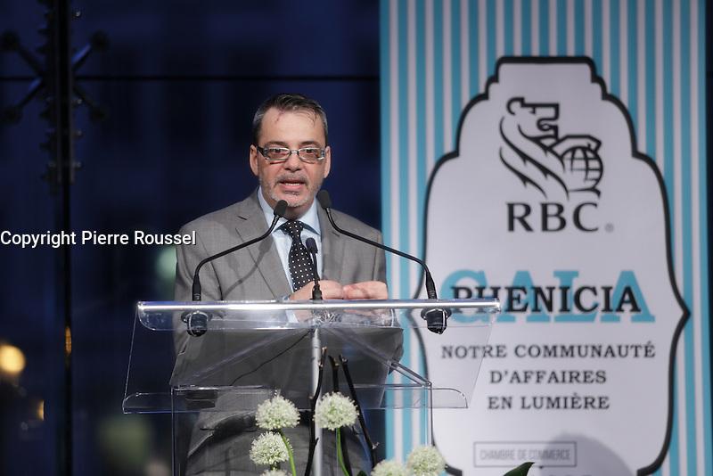 Steve Foster<br /> , President <br />  au Gala Phenicia de la Chambre de Commerce LGBT du Qu&eacute;bec, tenu au Parquet de la Caisse de Depots et Placements du Quebec, jeudi, 26 mai 2016.<br /> <br /> <br /> PHOTO : Pierre Roussel -  Agence Quebec Presse