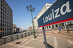 BRUSSELS - BELGIUM - 27 March 2020 --  COVID-19 lockdown. — Louiza, empty Place Louise, view towards Avenue Louise. — PHOTO: Juha ROININEN / EUP-IMAGES