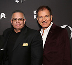 """John Gotti Jr. and Edward Walson attends the Broadway Opening Night of """"King Kong - Alive On Broadway"""" at the Broadway Theater on November 8, 2018 in New York City."""
