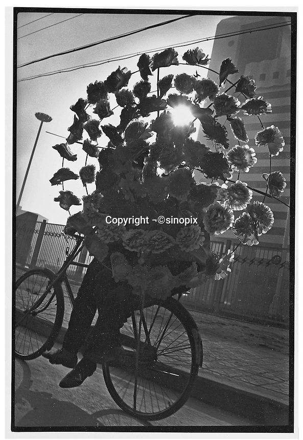 Flowers move silently through the Beijing suberbs...PHOTO BY WANG TONG / SINOPIX