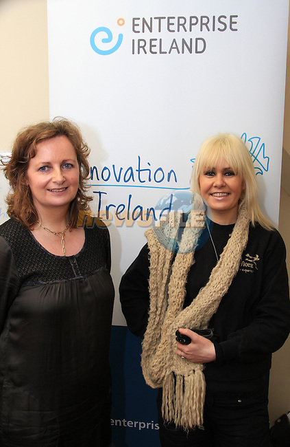 Anne Caldwell of Enterprise Ireland with Sylvia Vavasour of Roze Interflora at the opening of the Local Hero Time Bank..Picture: Shane Maguire / www.newsfile.ie