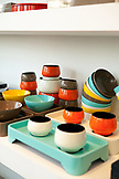 VIETNAM, Saigon, Ho Chi Minh City, colorful tableware / lacquerware products from Michele De Albert on display at the Gaya Design Showroom, 1 Nguyen Van Trang, District 1