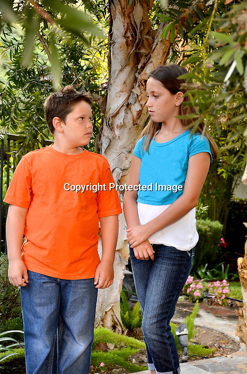 Stock photo of siblings