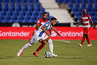 22nd June 2020; Estadio Municipal de Butarque, Madrid, Spain; La Liga Football, Club Deportivo Leganes versus Granada; Recio (CD Leganes) breaks away from Herrera in midfield
