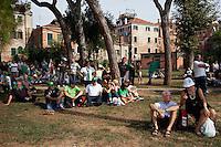 Venezia: aderenti al partito della lega nord partecipano alla quindicesima edizione della festa nazionale dei popoli padani.