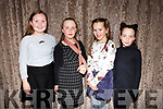 At the Kerry School of Music Concert in the rose Hotel on Sunday were Naoise O'Carroll, Aobhin O'Sullivan, Aoife Kelleher and Roanna O'Sullivan
