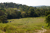 BELIZE, Punta Gorda, Toledo District, school children play soccer in the Maya village of San Jose