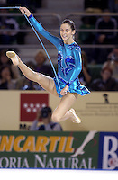 October 19, 2001; Madrid, Spain:  EMILIE LIVINGSTON of Canada performs with rope at 2001 World Championships at Madrid.