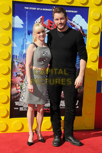 1 February 2014 - Westwood, California - Anna Faris, Chris Platt. &quot;The Lego Movie&quot; Los Angeles Premiere held at the Regency Village Theater.  <br /> CAP/ADM/BP<br /> &copy;Byron Purvis/AdMedia/Capital Pictures