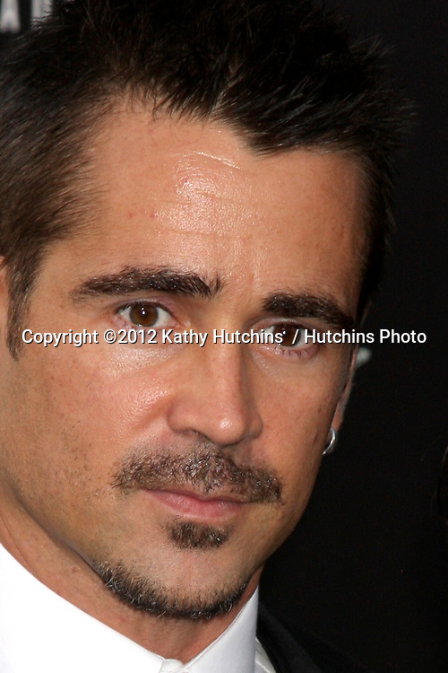 "LOS ANGELES - AUG 1:  Colin Farrell arrives at the ""Total Recall"" Premiere at Graumans Chinese Theater on August 1, 2012 in Los Angeles, CA"