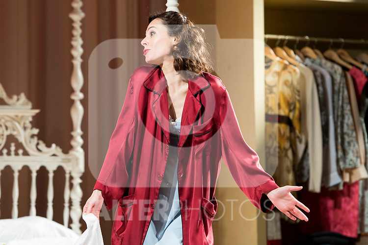 "Begoña Maestre during theater play of ""Una gata sobre un tejado de Cinc caliente"" at Reina Victoria theater in Madrid, Spain. March 15, 2017. (ALTERPHOTOS/BorjaB.Hojas)"