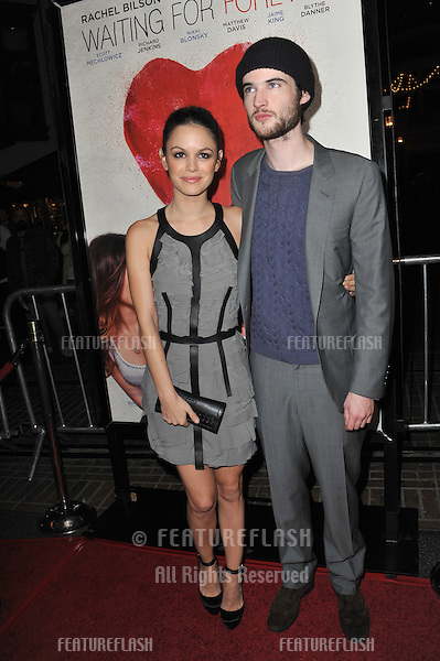 "Rachel Bilson & Tom Sturridge at the Los Angeles premiere of their new movie ""Waiting for Forever"" at the Pacific Theatres at The Grove..February 1, 2011  Los Angeles, CA.Picture: Paul Smith / Featureflash"