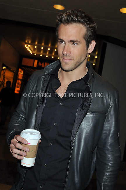 WWW.ACEPIXS.COM . . . . .  ....June 18 2009, New York City....Actor Ryan Reynolds arriving at the MTV Studios in Times Square on June 18 2009 in New York City....Please byline: AJ Sokalner - ACEPIXS.COM..... *** ***..Ace Pictures, Inc:  ..tel: (212) 243 8787..e-mail: info@acepixs.com..web: http://www.acepixs.com