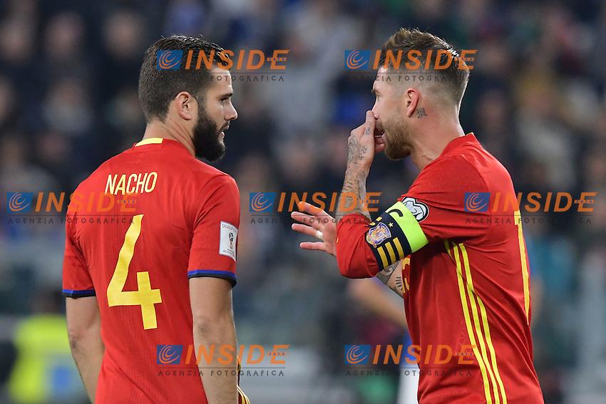 Nacho, Sergio Ramos Spain <br /> Torino 06-10-2016 Juventus Stadium <br /> World Cup Qualifiers Italy - Spain / Italia - Spagna. Foto Andrea Staccioli / Insidefoto