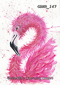 Simon, REALISTIC ANIMALS, REALISTISCHE TIERE, ANIMALES REALISTICOS, innovative, paintings+++++A_KatherineW_SplatterFlamingo,GBWR147,#a#, EVERYDAY