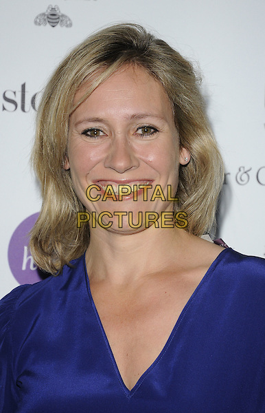 SOPHIE RAWORTH .At the Catherine Walker & Co. charity Fashion Show held at One Mayfair, London, England, UK, 18th May 2011..portrait headshot smiling blue silk .CAP/CAN.©Can Nguyen/Capital Pictures.