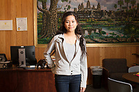 Socheata Mam, 19, is a first year student at Middlesex Community College studying Criminal Justice. A Cambodian-American, she is seen here in the Asian American Connections Center on Thurs., Feb. 15, 2018. The Asian American Connections Center was established at the school using a federal grant in 2016 and serves as a focal point for the Asian community at the school, predominantly Cambodian, to gather, socialize, study, and otherwise take part in student life.