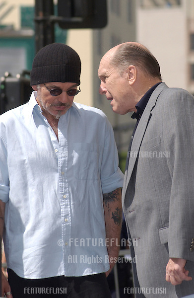 Actors ROBERT DUVALL (right) & BILLY BOB THORNTON on Hollywood Blvd where Duvall was honored with the 2,236th star on the Hollywood Walk of Fame..Sept 18, 2003