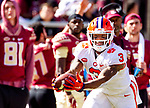Clemson wide receiver Amari Rpgers makes a 68 yard reception and run for a touchdown in the second half of an NCAA college football game against Florida State in Tallahassee, Fla., Saturday, Oct.27, 2018. Clemson defeated Florida State 59-10.  (AP Photo/Mark Wallheiser)
