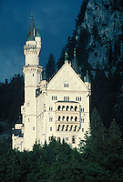 King Ludwig's Neuschwanstein castle. Bavaria Germany Europe.