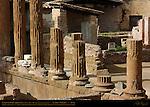 Largo di Torre Argentina Temple A Temple of Juturna 3rd c BC detail of columns Campus Martius Rome