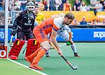 Den Bosch  -  Mirco Pruijser (Ned)   tijdens   de Pro League hockeywedstrijd heren, Nederland-Belgie (4-3).    COPYRIGHT KOEN SUYK