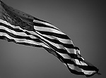 American Flag Black and White taken during my photo walk about in Santa Clarita California on September 3, 2016 @Fitzroy Barrett