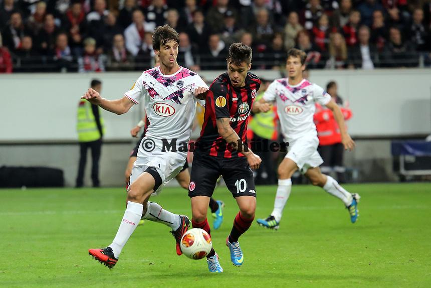 Jeremie Berchet (Bordeaux) gegen Vaclav Kadlec (Eintracht) - 1. Spieltag der UEFA Europa League Eintracht Frankfurt vs. Girondins Bordeaux