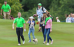 Ireland&rsquo;s Ronan Keating walks up the fairway with his family <br /> <br /> Golf - Day 1 - Celebrity Cup - Saturday 4th July 2015 - Celtic Manor Resort  - Newport<br /> <br /> &copy; www.sportingwales.com- PLEASE CREDIT IAN COOK
