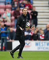 Liverpool Coach Pepijn Lijnders during the pre season friendly match between Wigan Athletic and Liverpool at the DW Stadium, Wigan, England on 14 July 2017. Photo by Andy Rowland.