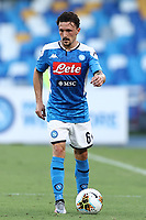 Mario Rui of Napoli in action during the Serie A football match between SSC  Napoli and SPAL at stadio San Paolo in Naples ( Italy ), June 28th, 2020. Play resumes behind closed doors following the outbreak of the coronavirus disease. <br /> Photo Cesare Purini / Insidefoto