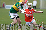 Kerry's Tom Murnane and Armagh's Cahill Carvill.