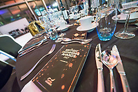 Picture by Allan McKenzie/SWpix.com - 04/11/17 - Swimming - British Swimming Awards 2017 - The Poiint, Lancashire County Cricket Ground, Manchester, England - Table programmes.