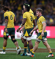 Michael Hooper of the Wallabies during the Rugby Championship match between Australia and New Zealand at Optus Stadium in Perth, Australia on August 10, 2019 . Photo: Gary Day / Frozen In Motion
