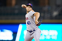 Buffalo Bisons relief pitcher Jason Adam in action against the Charlotte Knights at BB&T BallPark on July 24, 2019 in Charlotte, North Carolina. The Bisons defeated the Knights 8-4. (Brian Westerholt/Four Seam Images)
