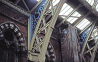 London: St. Pancras--Gothic Victorian Iron.   Photo '82.