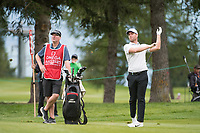 Lucas Bjerregaard (DEN) in action on the 2nd hole during final round at the Omega European Masters, Golf Club Crans-sur-Sierre, Crans-Montana, Valais, Switzerland. 01/09/19.<br /> Picture Stefano DiMaria / Golffile.ie<br /> <br /> All photo usage must carry mandatory copyright credit (© Golffile | Stefano DiMaria)