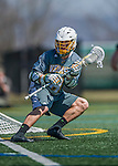 16 April 2016: University of Vermont Catamount Attacker James Barlow, a Senior from Glastonbury, CT, in action against the University of Maryland, Baltimore County Retrievers at Virtue Field in Burlington, Vermont. The Catamounts defeated the Retrievers 14-10 in NCAA Division I play. Mandatory Credit: Ed Wolfstein Photo *** RAW (NEF) Image File Available ***