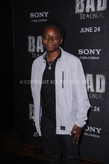 WWW.ACEPIXS.COM . . . . . .June 20, 2011...New York City... Adrian Kali Turner attends the premiere of 'Bad Teacher' at the Ziegfeld Theatre on June 20, 2011 in New York City.....Please byline: KRISTIN CALLAHAN - ACEPIXS.COM.. . . . . . ..Ace Pictures, Inc: ..tel: (212) 243 8787 or (646) 769 0430..e-mail: info@acepixs.com..web: http://www.acepixs.com .