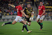 Lions&rsquo; Dan Biggar in action during the New Zealand Lions Series - Hurricanes v British and Irish Lions at Westpac Stadium, Wellington, New Zealand on Tuesday 27 June 2017.<br /> Photo by Masanori Udagawa<br /> www.photowellington.photoshelter.com.