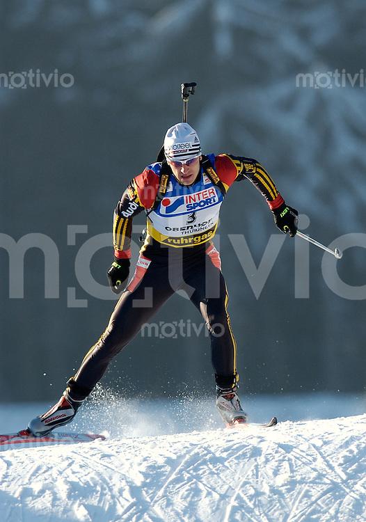Biathlon, Skinordisch, Weltcup 2002/2003 -Ruhrgas Biathlon World Cup 4- , Biathlon Trophy 1 Oberhof (Germany), Herren 10 km Sprint Ricco Gross (GER)