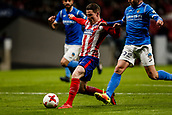 9th January 2018, Wanda Metropolitano, Madrid, Spain; Copa del Rey football, round of 16, second leg, Atletico Madrid versus Lleida; Kevin Gameiro (Atletico de Madrid) scores to make it 2-0 in the 74th minute